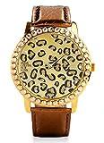 Elegante und moderne Damen-Armbanduhr in braun