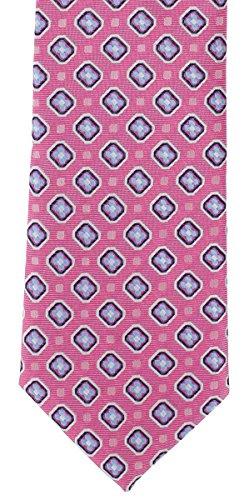 Corbata de poliéster de color rosa clásico de Michelsons of London