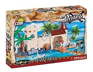 COBI- Juego de construcción, Fortress, Color Verde, marrón, Gris, Azul, Beige (6015)