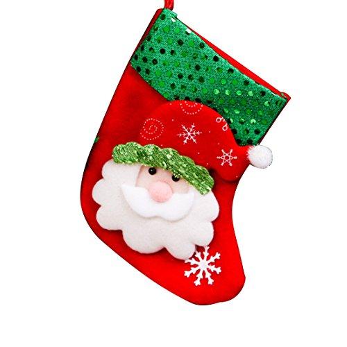 Calcetín de Navidad para colgar, diseño de bolas de Navidad árbol de Navidad de regalo de año nuevo