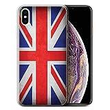 Stuff4 Coque Gel TPU de Coque Apple iPhone XS Max/Royaume-Uni/Britannique...