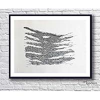 Federico CRISA Carta - Dall'alto - 50x65 cm - Art Backers - Serigrafia - Edizione Limitata