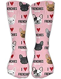 I Love French Bulldogs Comfortable Graduated Compression Socks For Women And Men,Athletic Socks