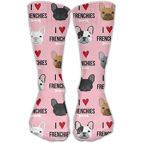 I Love French Bulldogs Comfortable Graduated Compression Socks For Women And Men,Athletic Socks Smartwool Striped Hat