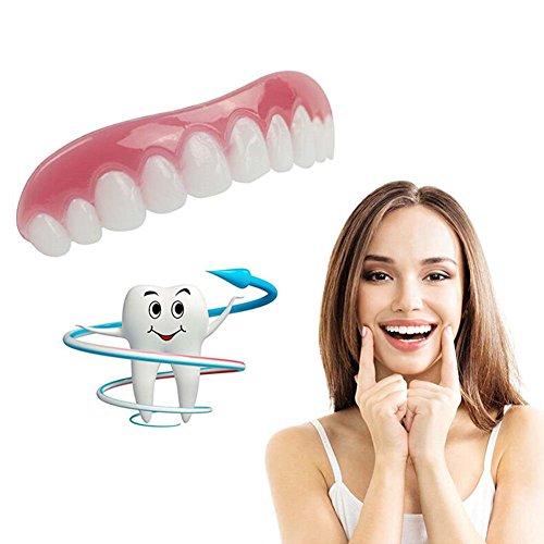 MMilelo Instant Smile Comfort Fit Flex Kosmetische Zähne Sofortiges Lächeln Zähne Whitening Prothese Perfekte Smile Veneers Komfort Biegen Zähne Top Kosmetikfurnier Kosmetisches Zahnfurnier
