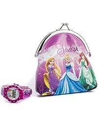 Disney DP156 - Reloj de cuarzo, para niña con correa de plástico, multicolor