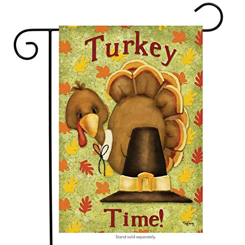 rden Flag Thanksgiving Pilgrim Hat Holiday Humor for Party Outdoor Home Decor(Size: 12.5inch W X 18 inch H) ()