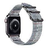 Fintie Armband für Apple Watch 44mm 42mm Series 4/3/2/1 - Premium Nylon atmungsaktive Sport Uhrenarmband verstellbares Ersatzband mit Edelstahlschnallen, Farbe-B