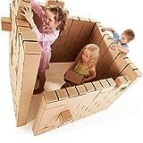 Gigi Riesige Bausteine - kreatives Spielzeug, 200 XXL Bausteine. Wunderschönes Geschenk für ein Mädchen und einen Jungen, spiele endlose Szenarien aus