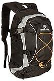 BearCraft Rucksack | Multifunktionaler Fahrradrucksack in schwarz | Trekking-Tasche für Joggen Wandern Fahrrad Reisen und Sport