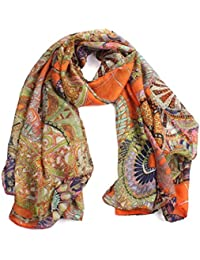f116b0999f1 FEITONG® Fashion New Lady Women Soft Printed Silk Shawl Scarf