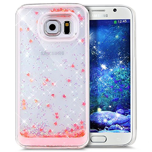 Für Samsung Galaxy S6 Edge Hülle,Galaxy S6 Edge Hülle Bling Glitzer Kristall Strass Diamant Spiegel Hülle,EMAXELERS Galaxy S6 Edge Case Cute Lovely Bär Ring Holder Weich TPU,Galaxy S6 Edge Hülle Silik Liquid 17