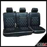 DIMOND Kunstleder Schonbezüge Sitzbezug Sitzbezüge T5 T6 Schwarz weiàŸ 2+1