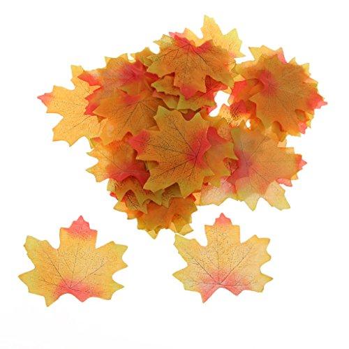 100x Künstliche Ahornblatt Herbst Blätter Kunstblumen Hochzeit Garten Dekoration - Grün Mit...