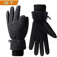 coskefy Winterhandschuhe Touchscreen -30℉ (-34℃) Fahrradhandschuhe Gefüttert Kälteschutz mit 3M Thinsulate Insulation Frauen Männer Ski Schnee Thermisch Outdoor Sport Weihnachten Handschuhe