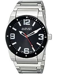 August Steiner Hombre Analógico Pantalla cuarzo suizo reloj, color negro y plata