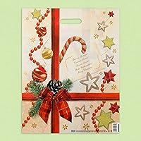 """Pack de 50Eco toy-ribbon blanco plástico bolsas """"Navidad sorpresa"""" 40x 50"""