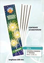 Idea Regalo - Zeus Party 140 pz Candeline 1° candeline Misura scintille Bastoncino Luminoso pirotecnico Stelline Festa