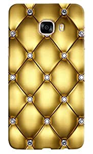 Omnam Quilting Effect Printed Designer Back Cover Case For Samsung Galaxy C7