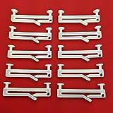 Easy-Shadow - 30 Stück Schlaufengleiter für 50 mm 50mm Schlaufen mit Schlitz - Gleiter 5 cm 5cm Innenlauf für Schlaufenschals / Schlaufenvorhang passend für Gardinenschienen Gardinenstange Vorhangschienen Gardinenbretter Gardinen Laufschienen Deckenleiste - weiß