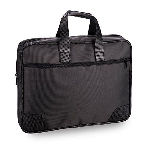Business Aktentasche, stilvolle Nylon multifunktionale Handtasche Organizer Dokumente Umhängetasche Arbeit tragen Reißverschluss Datei Safe Beutel Tote Bag für Office-Meetings Reisen