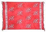 Sarong Pareo Wickelrock Dhoti Loop Tuch Strandtuch Handtuch Batik Delfin Rot