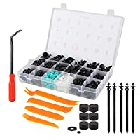 ZIJIA 360 Pcs Car Retainer Clips and Plastic Fasteners Plastic Push Pin Rivet Fasteners Trim Moulding Clips