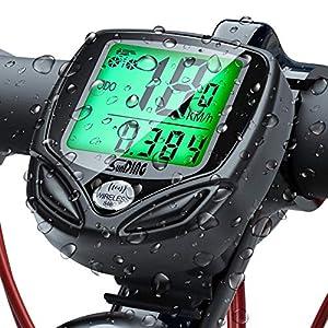 51F84DpfxpL. SS300  - UNEEDE Fahrradcomputer 16 Leistungsstarke Funktionen Tacho Fahrrad Fahrradtacho Grünes Nachtlicht LED Wasserdicht Radcomputer Präzise Geschwindigkeitsmessung Tachometer