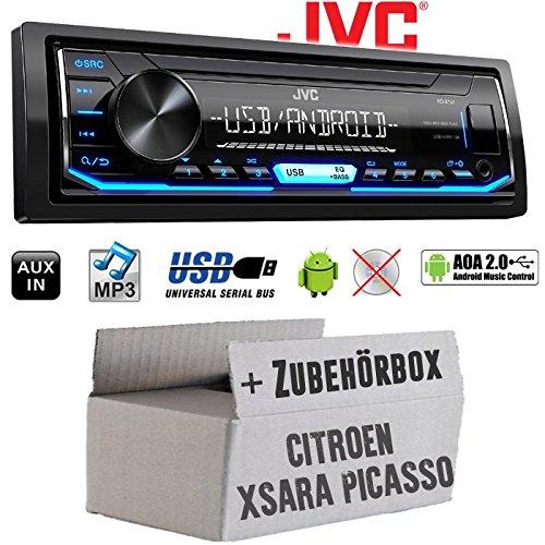 Citroen Xsara Picasso - Autoradio Radio JVC KD-X151   MP3   USB   Android 4x50Watt - Einbauzubehör - Einbauset