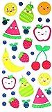 Grashine temporäre Tattoos für Kinder, Karton Tätowierungen, darunter viele Früchte wie Wassermelone, Birne, Apfel, Erdbeere, Orange, bananer usw.