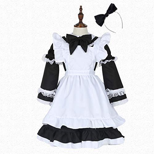 PIAOL Alice Dreamland Fee Magd Kostüm Halloween Prinzessin Kleid Cosplay Mädchen (Kind Prinzessin Alice Kostüme)