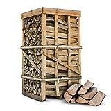 PALIGO Brennholz Kaminholz Feuerholz Grillholz Ofenholz Smokerholz Scheitholz Buchen Holz Trocken Ofenfertig Buche 33cm 2RM = 2,8SRM / 1 Palette Heizfuxx