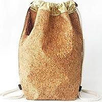 Mochilas-Mochila mujer-Mochila casual mujer/Diseño exclusivo deMisNubes/ Mochila corcho dorada