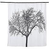 Anself 180 * 180cm rideau de douche /rideau de Salle de bains étanche en tissu Baignoire Douche + 12 Anneau Crochets