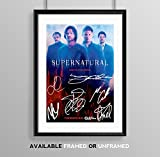 Supernatural Cast Signed Autograph Signature Autographed A4 Poster Photo Print Photograph Artwork Wall Art Picture TV Show Series Season DVD Boxset Present Birthday Memorabilia Gift (POSTER ONLY)