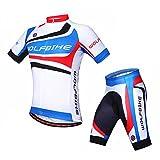ParaCity Fahrrad Trikot kurzarm + Radhose Herren/Damen kurzärmeliger Anzug für Reiten Radfahren Radsport MTB XL