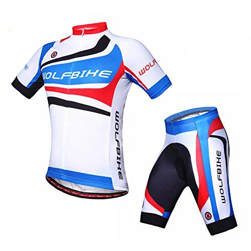 ParaCity Herren/Damen kurzärmeliger Anzug Jersey Radbekleidung Trikot für Reiten Radfahren Radsport MTB M