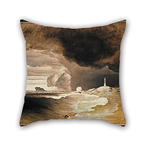 Uloveme Oil Painting Peder Balke - Lighthouse On The Norwegian Coast Throw Pillow Case 16 X 16 Inches / 40 By 40 Cm For Bedding,outdoor,kids Boys,monther,seat,father With 2