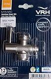 VRH Super Eco Series - Llave de paso de 3 vías para inodoro, color plateado