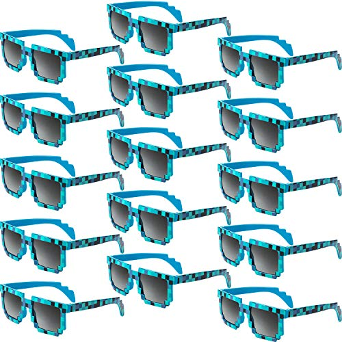 Weewooday 15 Pares Gafas Sol Píxel Retro Jugador