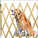 Barierre Hunde-Absperrgitter aus Holz natur Absperrgitter Hundegitter Hund Trenngitter
