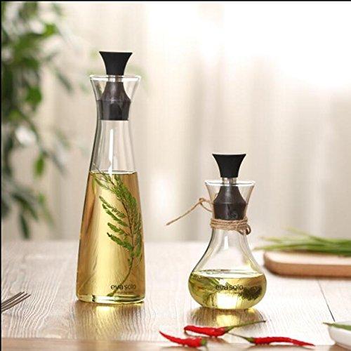 Xizi Glasflasche Olivenöl Spender & Essig Spender Öl Essig Cruet Edelstahl Pourer Auslauf 10 Unzen (Geschirr Geschirr-sets Rachel Ray)