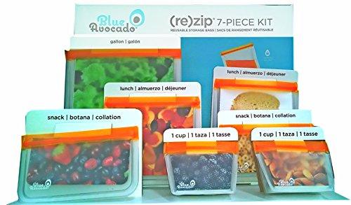 blue-avocado-rezip-reusable-storage-snack-and-sandwich-bags-7-piece-kit