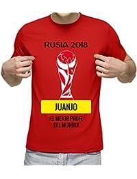 da777409e9910 Camiseta Personalizada con Nombre  Rusia 2018  para animar a la Selección  ...