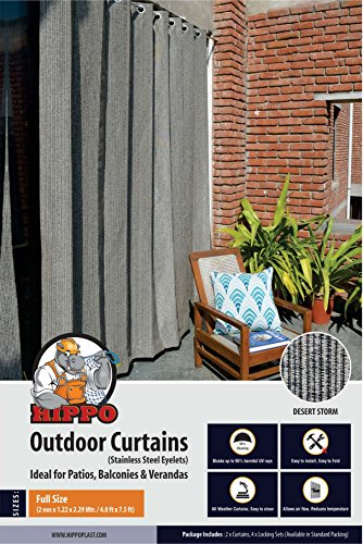 check MRP of outdoor plastic curtains HIPPO