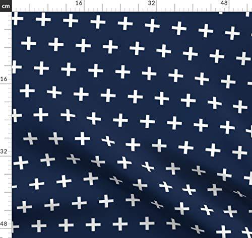 Andrea Lauren, Baby, Schweizer Kreuz, Plus, Pluszeichen Stoffe - Individuell Bedruckt von Spoonflower - Design von Andrea Lauren Gedruckt auf Chiffon