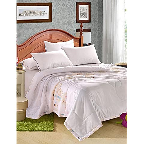 YangR*Tencel Estate trapunta singola o doppia stampa reattivo fresco in estate fresca Quilt Quilt Set biancheria da letto