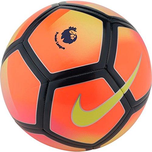 Nike - Balón de fútbol, diseño Premier League 2017-2018, color Crimson/Volt 2017/2018, tamaño 4