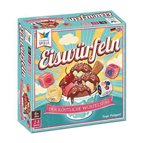 Starnberger Spiele 86049 - Eiswürfeln - Cleveres Würfelspiel für Eisliebhaber, Reise- und Kompaktspiel