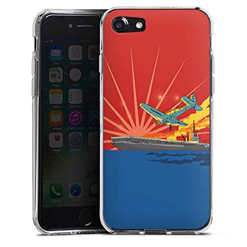 Apple iPhone X Silikon Hülle Case Schutzhülle Flugzeug Schiff Meer Silikon Case transparent